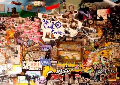 Heiligendamm : Acrylique sur toile, collages