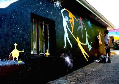 Fresque à la maison de l'Eden