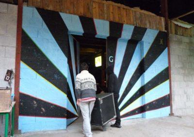 Fresque Tulle Underground entrée des musiciens